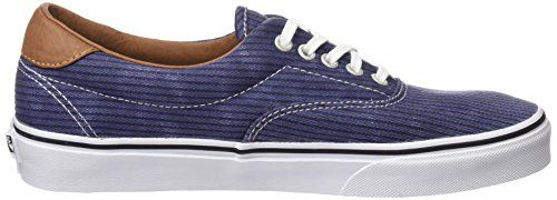Adulte Herringbone Navy Washed Authentic Vans Sneakers Mixte Bleu ARnqwZx1FU