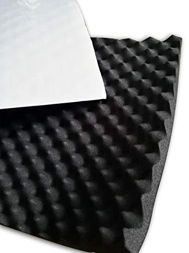 soomj - Espuma de absorción acústica insonorizadora para estudio de sonido 40 x 100 cm, 0,4 m²