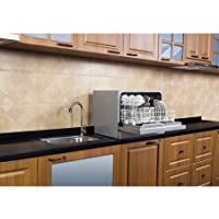 Midea 6-Place Setting Countertop Dishwasher silver