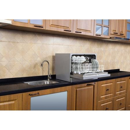 Midea 6 Place Setting Countertop Dishwasher Silver