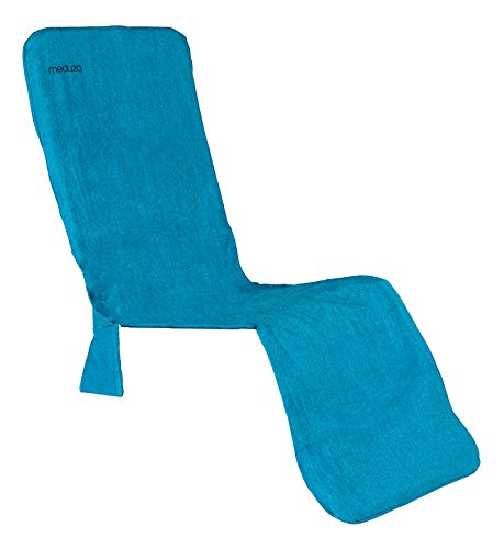 MEDÜZA Bamboo Fiber Deluxe Lounge Chair Beach Towel URBANIA - Designed Gravity Zero Type Long Chair Cover Soft, Breathable & Quick To Dry - Molds & Fungi - 21.5