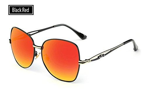 Sunglasses Sol de red TL de Gafas Rosa Gafas Gafas UV400 Gafas black Sombra Hombre Sol de Verano de polarizadas Mujeres para Mujeres dnnBF6f