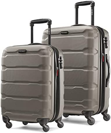 Samsonite Omni PC Hardside Expandable Luggage with Spinner Wheels, Silver, 2-Piece Set (20/24)