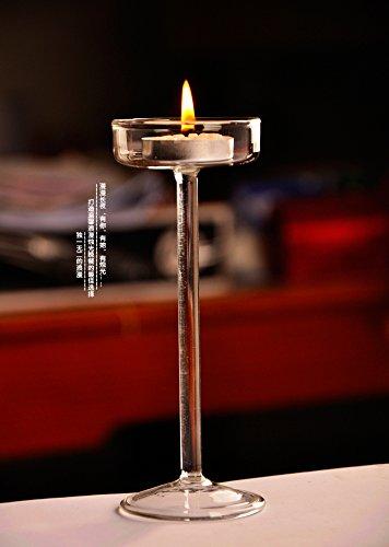 KESOTO Verre Clair Haute hydroponique Terrarium Candlestick Bougeoir Decor