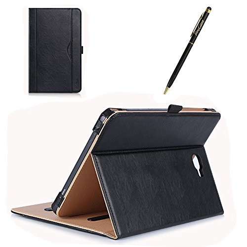 ProCase Samsung Galaxy Tab A 10.1 Case - Stand Folio Case Cover for Galaxy Tab A 10.1'' Tablet SM-T580 T585 T587 (NO S Pen Version), with Multiple Viewing Angles, Document Card Pocket - Black by ProCase (Image #7)