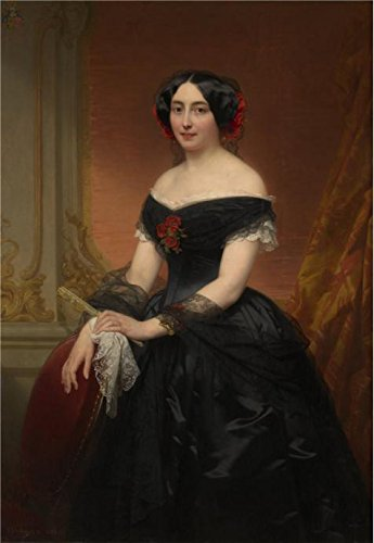 Oil Painting 'Nicaise De Keyser - Lady Mols-de Brialmont, 1853', 20 x 29 inch / 51 x 74 cm , on High Definition HD canvas prints is for Gifts And Basement, Foyer And Nursery Decoration (Audio Stand Sculpture)