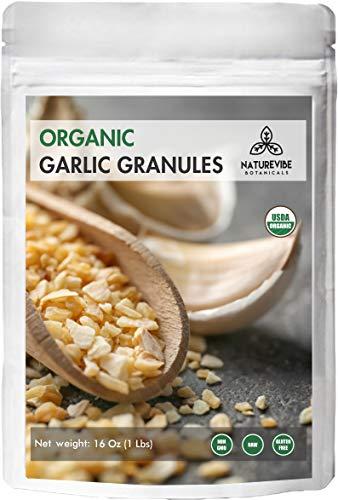 Organic Garlic Granules by Naturevibe Botanicals, -