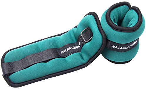 BalanceFrom GoFit Fully Adjustable Ankle Wrist Arm Leg Weights, Pair (Athletic Weights Works Ankle)