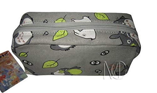 Errilol Cute Cartoon Style Zipper Pen Bag Pencil Case Cosmetic Makeup Bag Pouch Stationery Writing Office School Supplies Wallet Holder(Grey) by Errilol