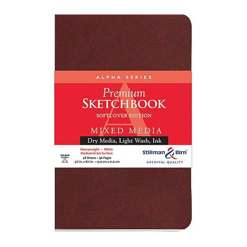 Stillman & Birn Alpha Softcover Sketchbook, Heavyweight 100lb, White, 48 Sheets, 8x10