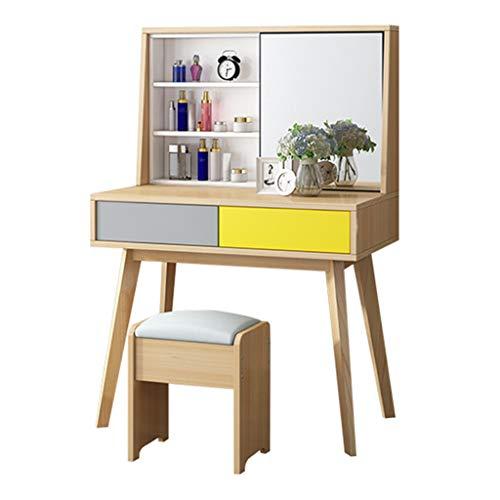 Tocadores Mesas de preparación,mesas de preparación de madera maciza mesas de preparación escritorios del dormitorio mini...