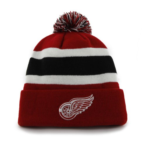 NHL Detroit Red Wings Breakaway Cuff Knit Cap, One Size, Red