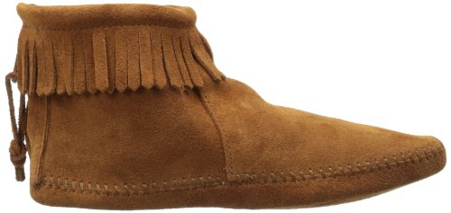 Minnetonka Back Zipper 182 - Botas Mocasin Mujer Marrón (Brownbrown)