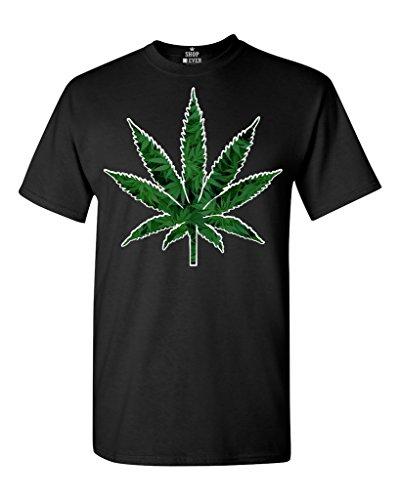 Shop4Ever Marijuana Leaf T-shirt Weed Smokers Shirts X-Large Black