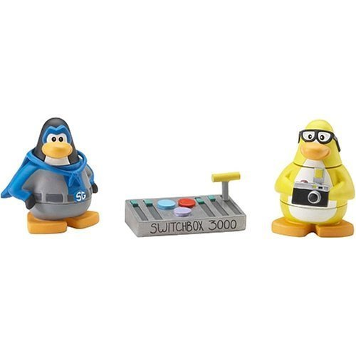 Disney's Club Penguin Series 1 Mix 'N Match 2 Inch Mini Figure 2-Pack Shadow Guy and Mild Mannered Reporter by ()