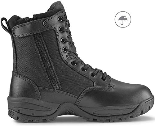 Maelstrom Men's TAC Force Waterproof Military Tactical Boots with Zipper, Style # T5180Z WP, Black, 8'', Waterproof, Size 12M ()