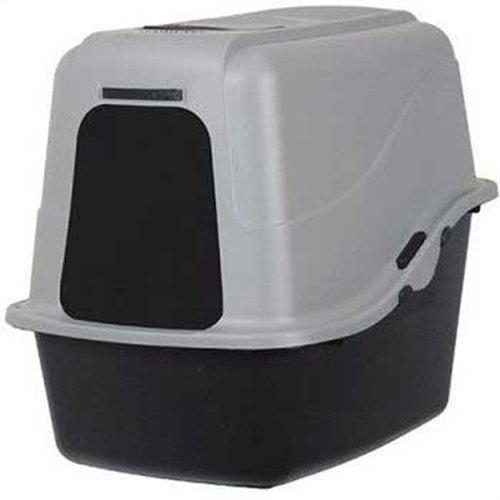 Petmate Hooded Litter Pan Set Large, Black/Gray by ()