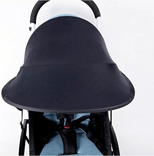 Topwon Universal Stroller Canopy Extender Sun Shade/Rayshade / Stroller Cover (Black)