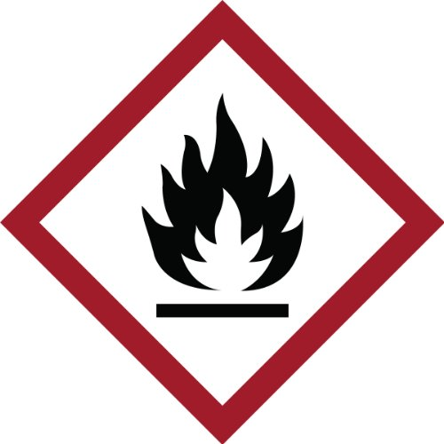 Accessories Ghs (Brady 118822 Vinyl GHS Flammable Picto Labels , Black/Red On White,  1