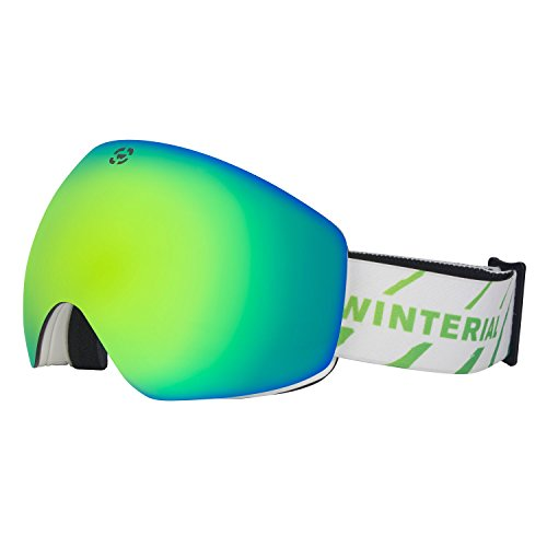 Winterial WNM2 Ski Goggles Snowboard Frameless Interchangeable Lens and Case Included One Size Fits All