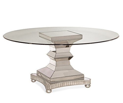 Bassett Mirror 3179-700-095EC Hollywood Glam Moiselle 54'' Round Dining Table in by Bassett Mirror Company