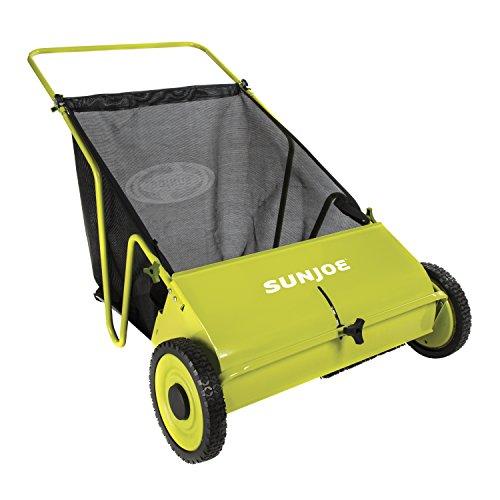 Sun Joe SJSW26M Manual Push Lawn Sweeper, 26