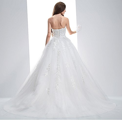 Dresses Women's Sweetheart Brides Lace Long Wedding Ivory Sexy for Evening BessWedding Uq0Pw7dP
