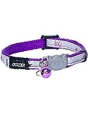 Rogz Nightcat Safeloc Collar Purple Budg 8mm