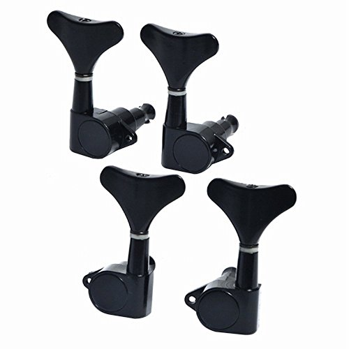 Guitar Bass Tuning Pegs 2R2L Machine Heads Tuning Pegs,Black