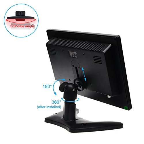 TOGUARD 10.1 Inch IPS Touchscreen Monitor HD 1280x800 Portable Color Display Screen with AV/VGA/HDMI/BNC/USB Earphone Output for PC Security CCTV Camera 170° Wide Viewing Angle