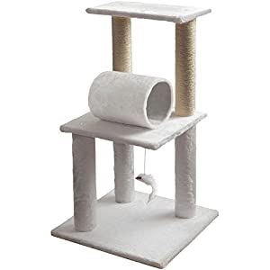Cat Tree Condo Tower Post for Indoor Cats – Kitty House Furniture Trees and Towers for Climbing and Scratching