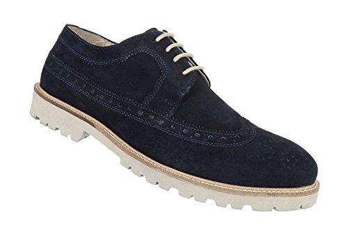 Herren Halbschuhe Schuhe Business Wildleder Schnürer Boots Braun Dunkelblau Beige 36 37 38 39 40 41 Dunkelblau