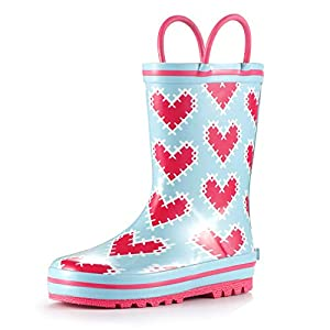 MOFEVER Toddler Kids Rubber Rain Boots