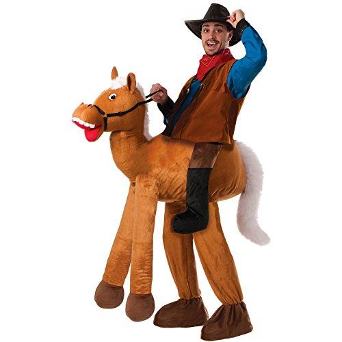 Forum Novelties Men's Ride A Horse Costume, Brown,