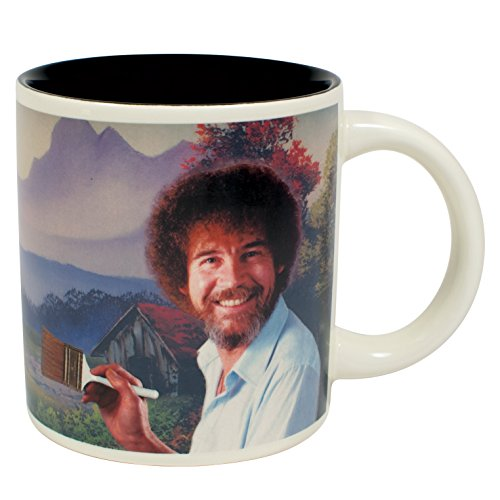 Bob Ross Heat Changing Mug - Add Coffee or Tea and a Happy Little Scene Appears - Comes in a Fun Gift - Changing Mug