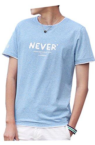 平凡巻き取りラベシャツ 半袖 メンズ 夏季対応 通気性 薄手 吸汗 トップス TXC151