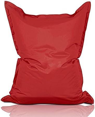 Imagen deLumaland PUF otomano Puff XL 120 x 160 cm 270l con Relleno Innovador Puff para Interiores y Exteriores Rojo