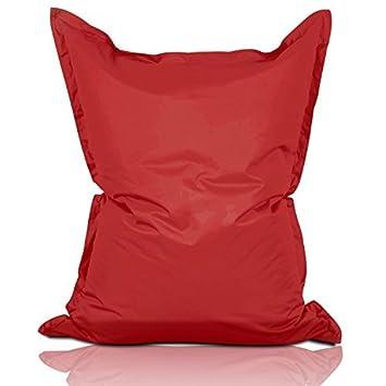 Lumaland PUF otomano Puff XL 120 x 160 cm 270l con Relleno Innovador Puff para Interiores y Exteriores Rojo