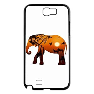 UNI-BEE PHONE CASE For Samsung Galaxy Note 2 Case -Animal Elephant Pattern-CASE-STYLE 11