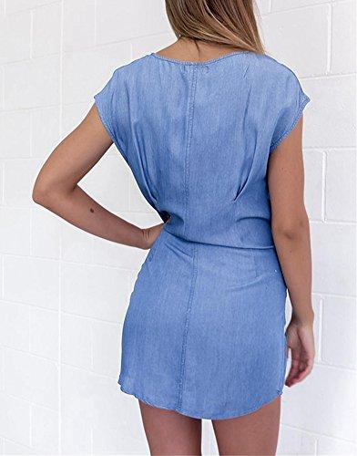 5 Robe Bleu Femme Chemise All 551qUrAw