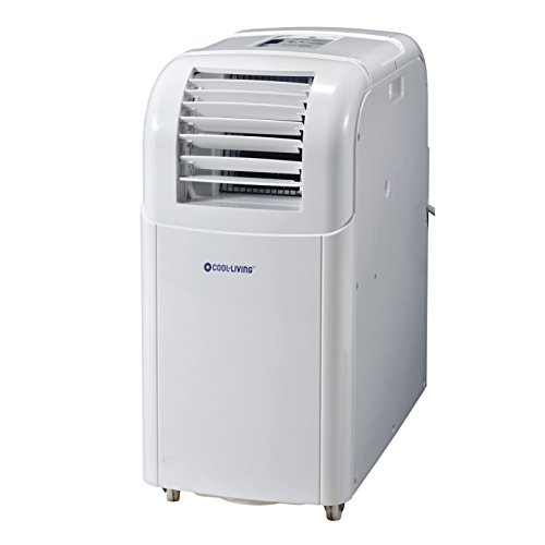 Cool Living CL-PC8000 8,000 BTU 3 Speed Home Office Portable Compact AC Air Conditioner, White