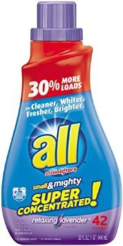Mighty Concentrated Liquid (All Small & Mighty Relaxing Lavender Super Concentrated Liquid Detergent 32oz - 2 Pack)