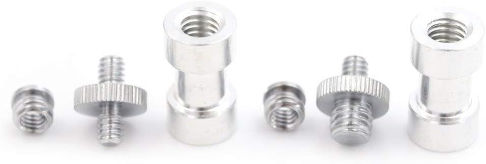 Tool Parts 1set 6in1 1//4 3//8 Screw /& 5//8 Spigot Stud Convert Adapter For Camera Tripod Stand Color: B