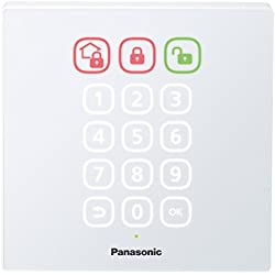 Panasonic KX-HNK101W Access Keypad for Smart Home Monitoring System (White)