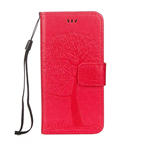iPhone 6 / 6s Case, The Grafu Shockproof Leather Wallet Cover, Premium Magnetic Fip Case with Kickstand and Card Slots for Apple iPhone 6 / 6s, Rose Red