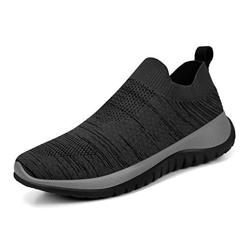KIKOSOCKS Womens Shoes Outdoor Walking Hiking Shoes Lightweight Casual Jogging Sneakers Black/Grey 7 M US (Best Walking Jogging Shoes For Women)