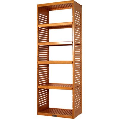 Stand Alone Tower with Adjustable Shelves Finish: Honey Maple
