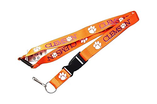 (aminco NCAA Clemson Tigers Clip Lanyard Keychain Id Ticket - Orange)