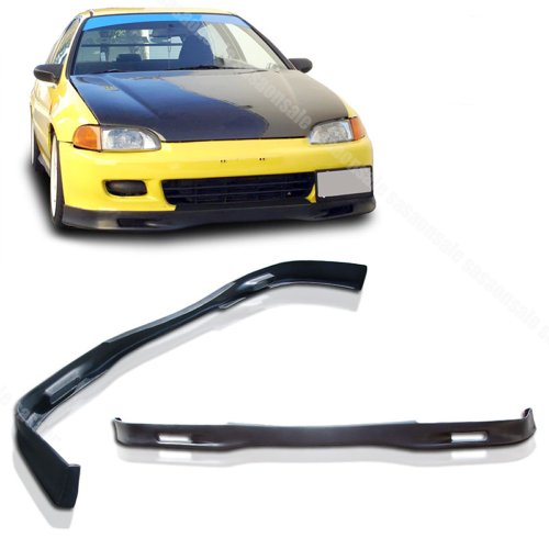 Honda Civic 3dr Spoon - NEW - 92-95 HONDA CIVIC 2dr 3dr SPON 2 Style PU Front Bumper Lip