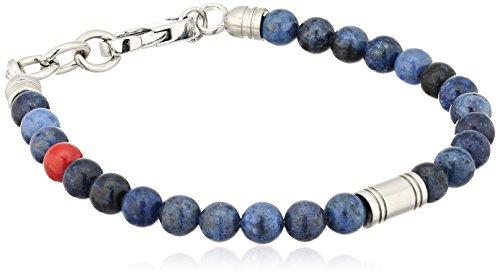 Fossil Vintage Casual Blue Beaded Bangle Bracelet